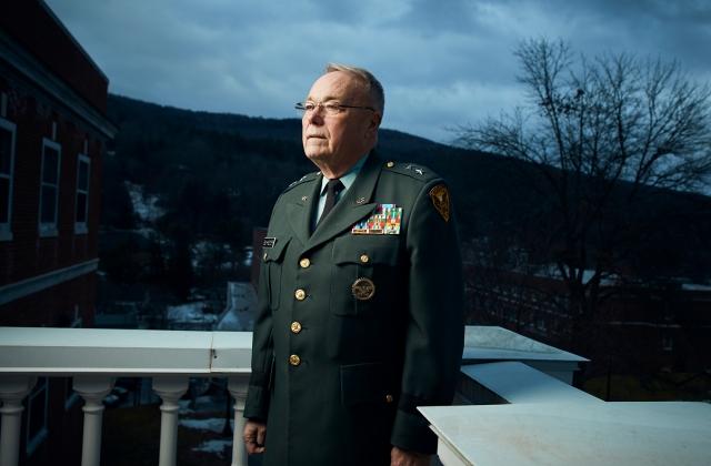 Richard Schneider, on campus portrait