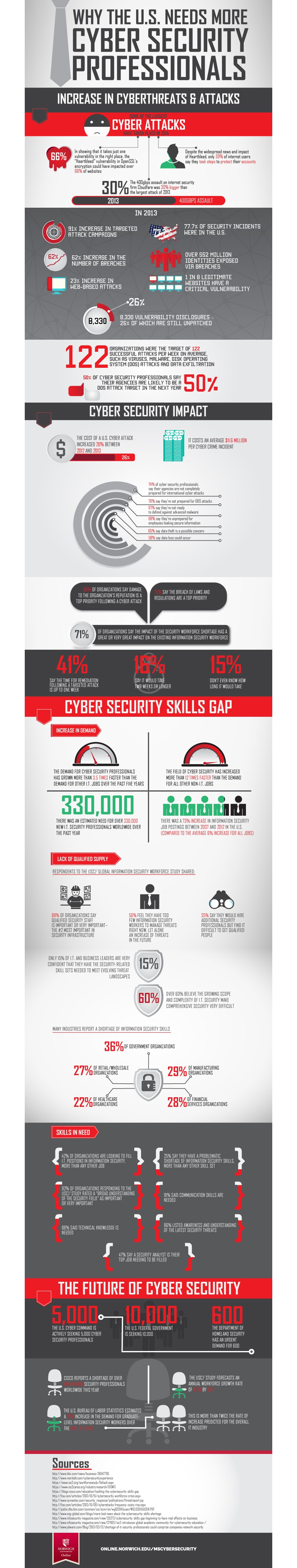 need for cyber professionals infographic image