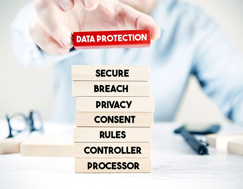 building blocks depicting data loss prevention