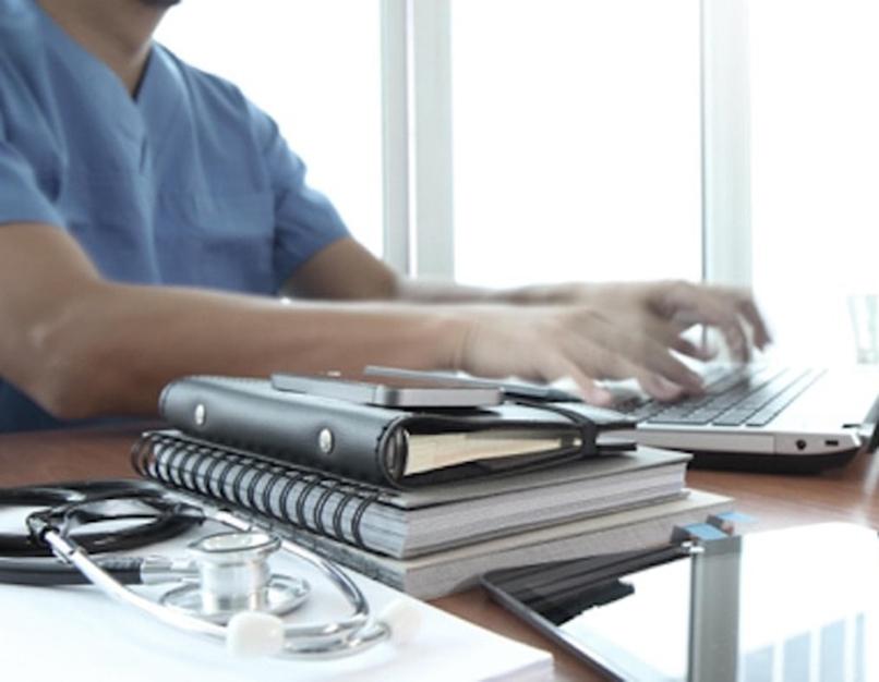 laptop, books, stethoscope